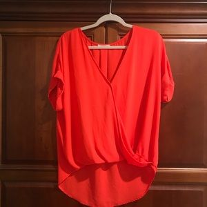 Anthropologie Lush orange top